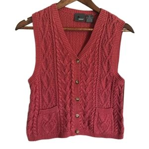 Lizwear VINTAGE Knitted Button Up Vest PETI…
